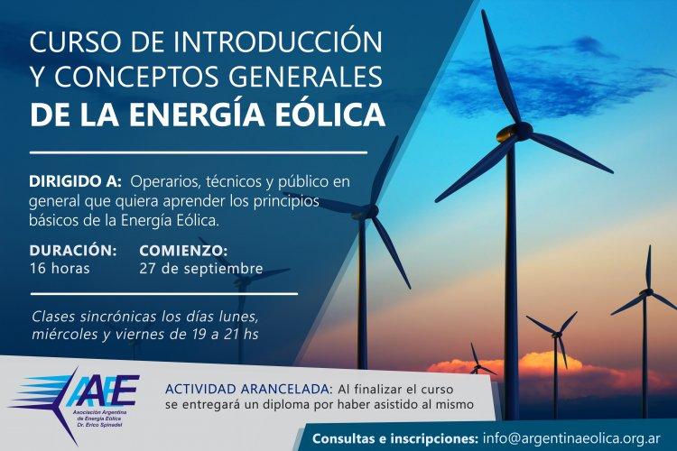 Curso de introducción y conceptos generales de Energía Eólica
